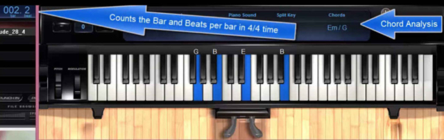 Prelude in E minor number 4 by Chopin with MIDI keys, chord analysis and bar beats