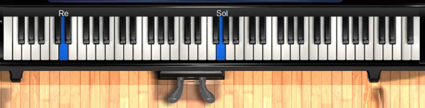 solfege syllables appear with each note that plays on keyboard